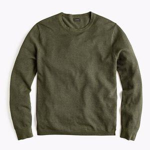 J. Crew Cotton Cashmere Piqué Crewneck Sweater XL
